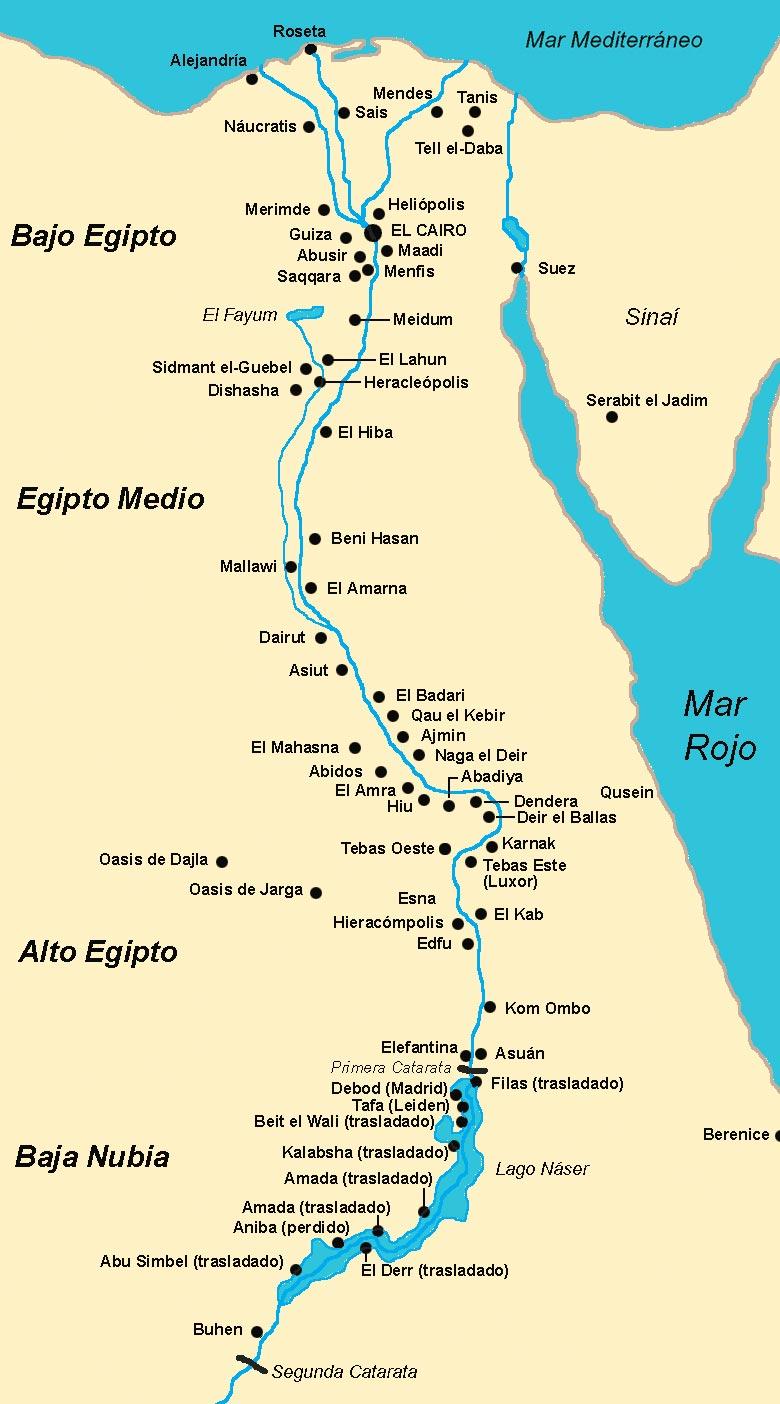 Mapa Geográfico De Egipto Principales Ciudades